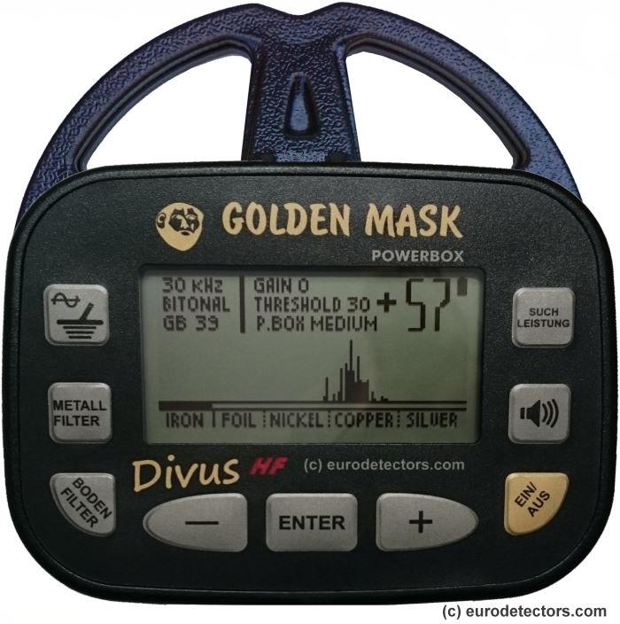 Golden Mask Divus HF (15 + 30 kHz) Metalldetektor