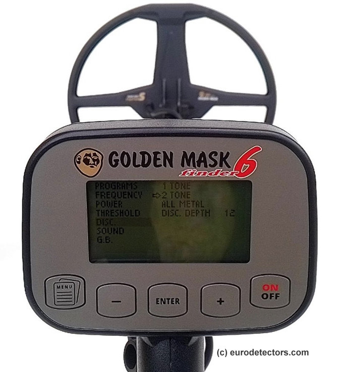 Golden Mask 6 Multifrequenz-Metalldetektor